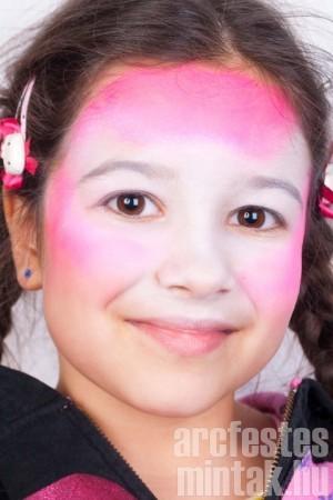 Lány tigris arcfestés 1