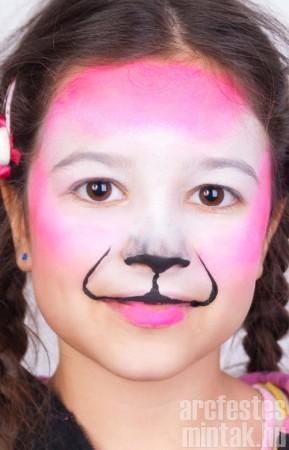 Lány tigris arcfestés 2