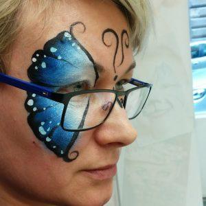 Pillangó arcfestés lépésről lépésre, VIDEO