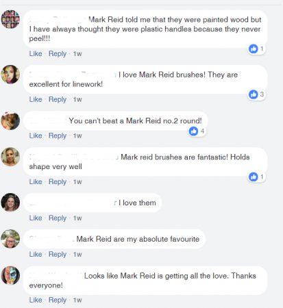 Mark Reid arcfestő ecset vélemények