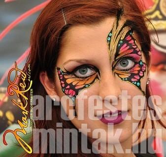 Maszkszerű arcfestés GlitterMark csillámzselével és arcfestékkel, Mark Reid-től