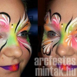 UV maszk arcfestés