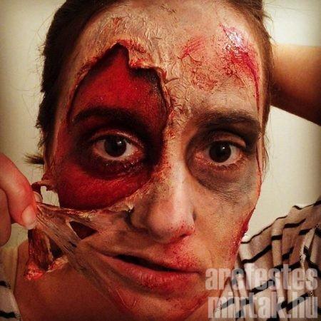 Zombi arcfestés latex segítségével, forrás: amazingfaces