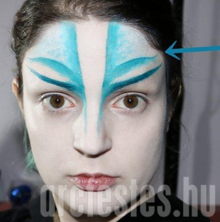 Kék homlok festés alap