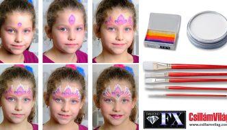 Homlokdísz hercegnő arcfestés 2. lépésről lépésre, + CsillámVilág kupon