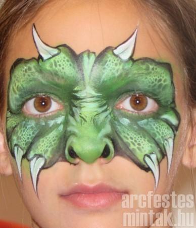 Zöld szörny, Mehro Paradise arcfestékkel