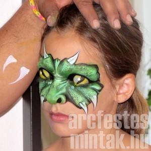 Szörny arcfestés
