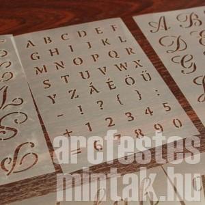 Tökéletes betűk és számok testfestéssel