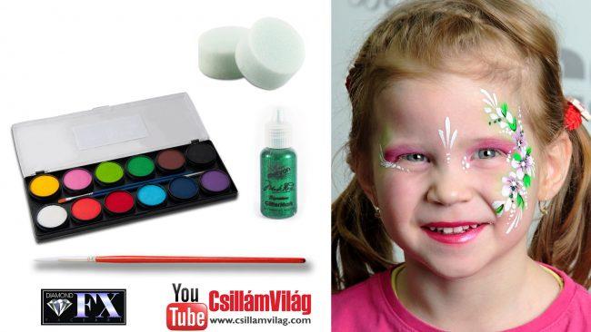 Virágos arcfestés gyerekenek