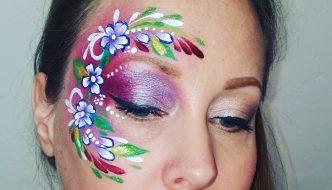 Virágos tavaszi arcfestés step-by-step