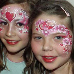 Valentin napi arcfestés ötletek lányoknak