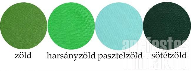 Zöld arcfesték, béka festés