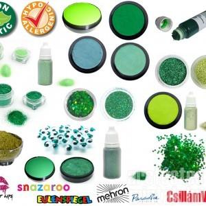 Zöld arcfesték zöld arcfestés mintákkal